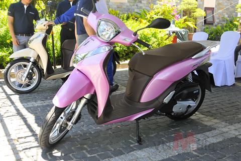 Xe Honda SH mode mầu hồng được mua nhiều