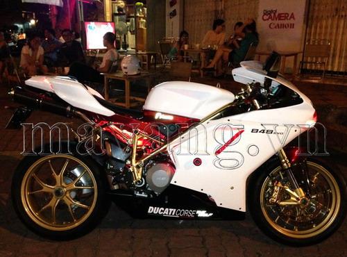 Xưởng độ xe mạ vàng tại Hà Nội, Xe Ducati độ, độ xe Ducati, độ xe máy, Ducati 848 Evo