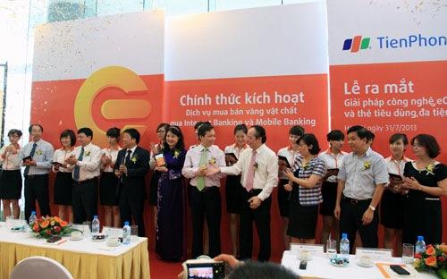 TienPhong Bank mở dịch vụ mua bán vàng vật chất thông qua Internet Banking và Mobile Banking