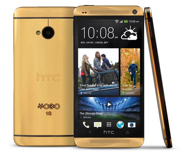 htc one mạ vàng, Điện thoại HTC One Mobo ma vang 24K