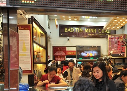 Giá vàng SJC tại Bảo Tín Minh Châu ngày 4/12/2013