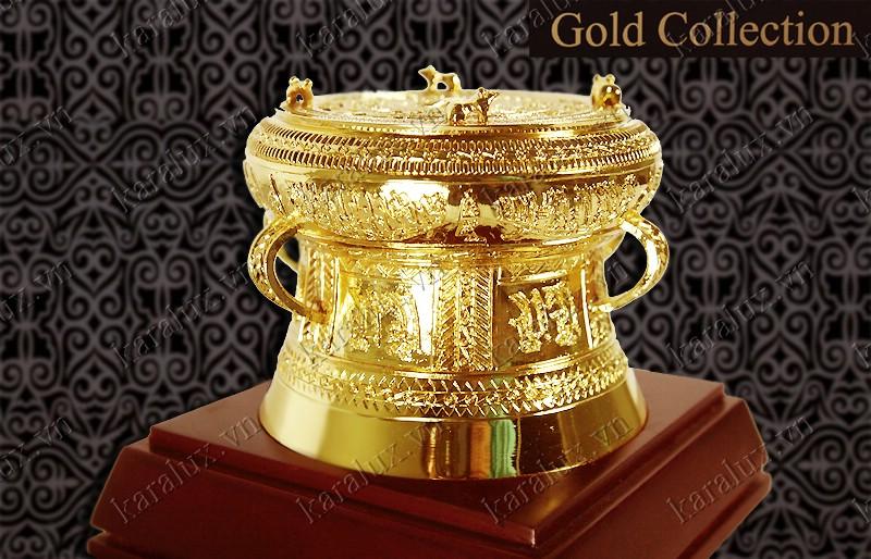 Trống đồng mạ vàng, mạ vàng 24k, Trống đồng