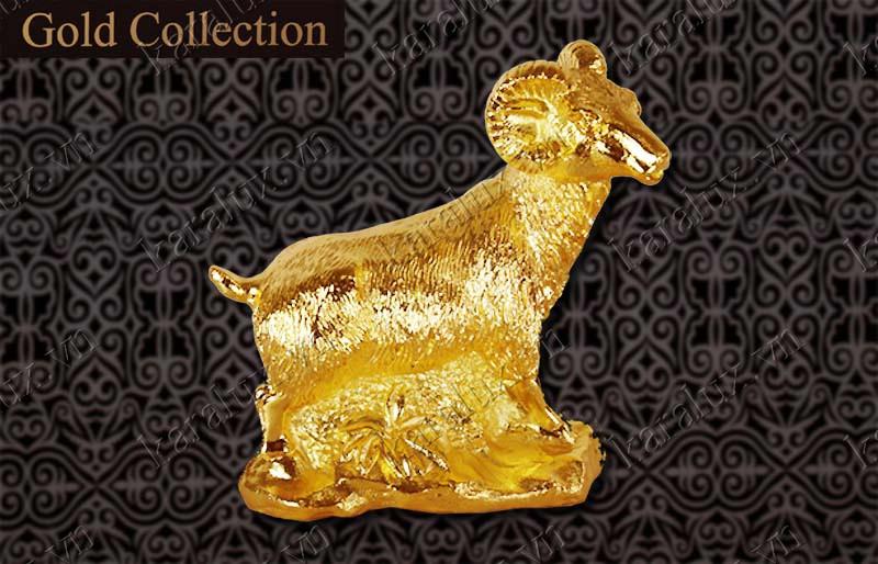 Tượng Dê phong thủy mạ vàng 24k, Linh vật Dê mạ vàng