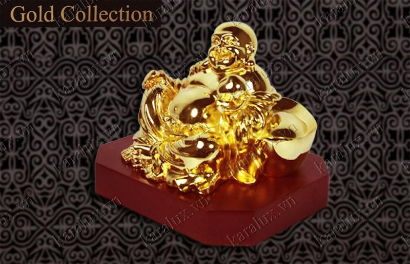 Tượng Di lặc ngồi,  Tượng Phật Di lặc mạ vàng, Mạ vàng 24k