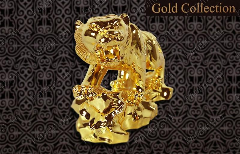 Tượng Hổ phong thủy mạ vàng, Linh Vat Ho Ma Vang 24k