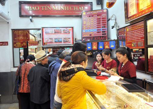 Thị trường và giá vàng Bảo Tín Minh Châu ngày 24/2/2014
