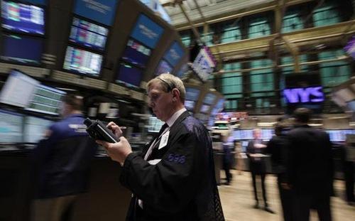 Chứng khoán Mỹ rớt giá sau thông tin Fed , Thị trường chứng khoán mỹ