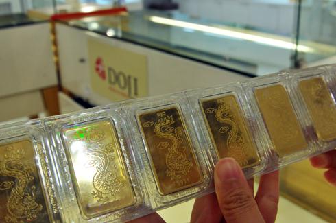Giá vàng SJC ngày 8/2013 tăng cao nhất trong gần 2 tháng