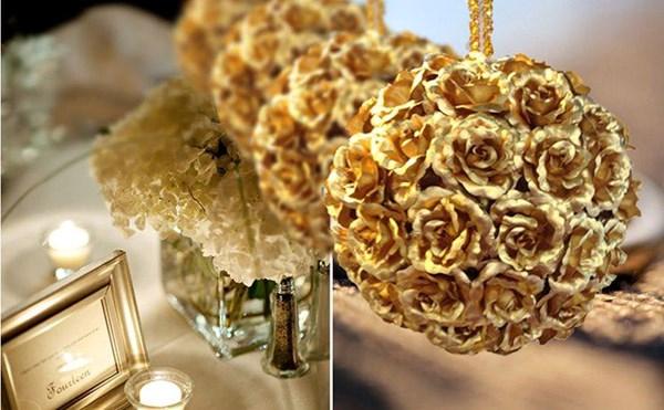 Hoa hồng dát vàng 24K giá siêu rẻ: Chỉ 5,3 triệu đồng/10 bông