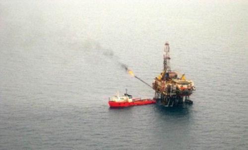 Một giếng dầu của Việt Nam trên Biển Đông