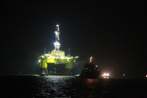Giàn khoan dầu Nam Hải 9 của Trung Quốc. Ảnh: Chinanews