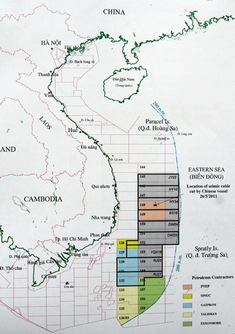 Trung Quốc mời thầu khai thác dầu khí ở cả vùng đặc quyền kinh tế, thềm lục địa của Việt Nam, bất chấp luật pháp quốc tế, bất chấp chủ quyền, quyền lợi chủ quyền, quyền tài phán của Việt Nam (ảnh minh họa)