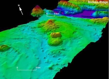 Một khu vực trên đáy Ấn Độ Dương có địa hình phức tạp vừa được lập bản đồ