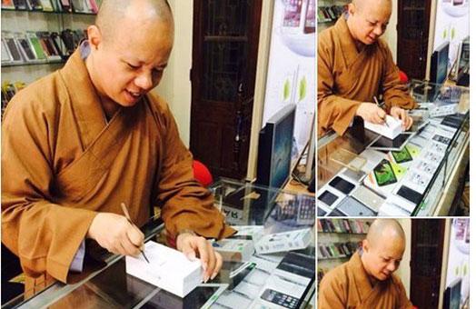 Ảnh khoa đập hộp iPhone 6 trên facebook của thầy Cường