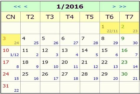 Lịch nghỉ tết âm lịch ất mùi 2016 | TET am lich 2016 được nghỉ 9 ngày