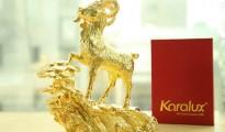 de phong thuy, tượng linh vật dê mạ vàng 24K