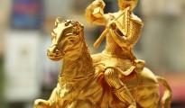 Mã thượng phong hầu bằng đồng, Tượng khỉ cưỡi ngựa mạ vàng 24K, Quà tặng tết 2016