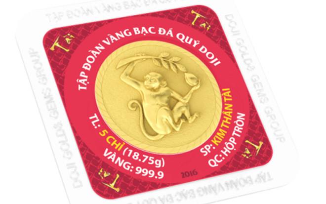 kim than hien dao, giá đồng vàng Kim thân hiến đào của DOJI trong ngày vía thần tài