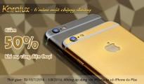 Karalux tròn 6 tuổi: Giảm giá 50% cho dịch vụ mạ vàng điện thoại