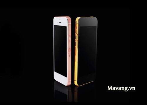 iphone 5c mạ vàng 24K, iPhone 5S mạ vàng socola