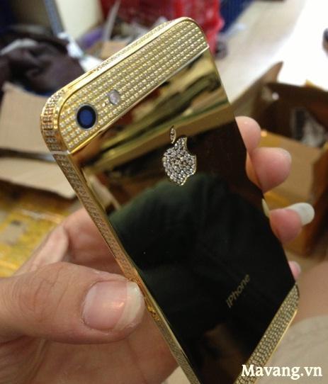 Vỏ iPhone 5 mạ vàng, bán vỏ iPhone 5 mạ vàng 24K