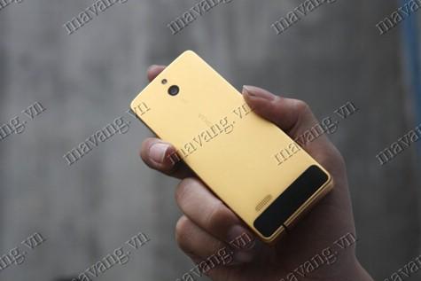 Nokia 515 ma vang, điện thoại NOkia515 mạ vàng 24K