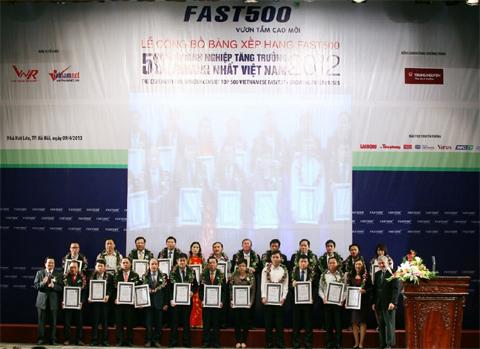 Công bố 500 DN tăng trưởng nhanh nhất Việt Nam 2013