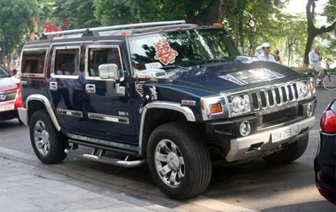 Hummer H2 ma vang, siêu xe mạ vàng 24K